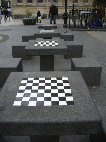 Too cold for chess...
